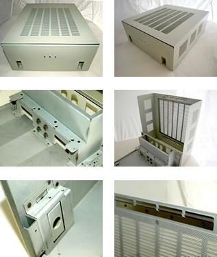 通信機器本体カバーのSPCC加工製品事例